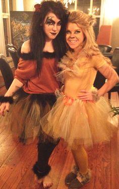 Scar and Mufasa female costumes, handmade DIY.next year, for sure. Scar Halloween Costume, Diy Halloween Costumes For Women, Halloween Kostüm, Diy Costumes, Female Costumes, Costume Ideas, Sister Costumes, Cosplay Ideas, Halloween Makeup