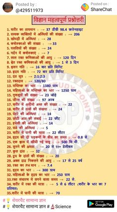 General Knowledge Quiz Questions, Gk Questions And Answers, General Knowledge Book, Gernal Knowledge, Knowledge Quotes, English Vocabulary Words, Learn English Words, Biology Facts, Interesting Facts In Hindi