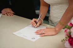 Signing the marriage license - Wedding photo ideas