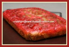 ~ Rhubarb Upside Down Cake Recipe made with Bought Boxed Cake Mix