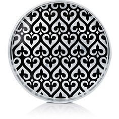 J.Fleet Designs Fleur-De-Lis Lacquered Round Tray ($170) ❤ liked on Polyvore featuring home, kitchen & dining, serveware, multi, lacquer trays, black lacquer tray, circular tray, round lacquer tray and round tray