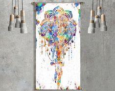 elefante de pared colgante Mandala tapiz por ThestoryoftheFall