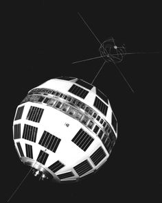 The Telstar satellite, designed by Bell Telephone Laboratories for relaying telephone calls, data messages and television signals, is shown in (AP Photo) Telephone Call, Vintage Air, To Infinity And Beyond, Winter Art, Historical Photos, Evolution, 19th Century, Photo Galleries, Messages