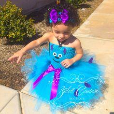 Monsters Inc Sully Tutu Vestido por ZulettCouture en Etsy