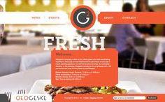 In today's post we take a look at restaurant websites. Restaurant websites are a great source of design inspiration. One problem of most restaurant websites is. Restaurant Website Design, Restaurant Concept, Webdesign Inspiration, Website Design Inspiration, Delicious Restaurant, Portuguese Recipes, Food Website, Showcase Design, Catering