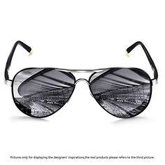 c054e7fa5849 ROCKNIGHT Polarized Aviator Sunglasses for Men Women Metal Flat Top  Sunglasses Ultralight Driving Outdoor