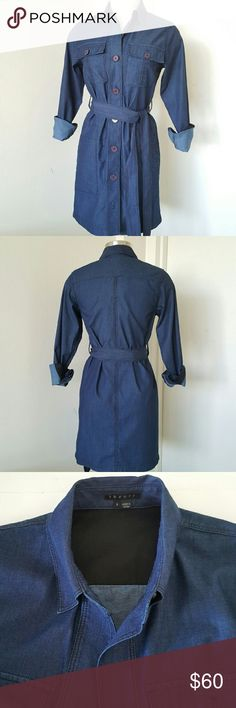 THEORY Denim Dress Beautiful and Timeless Since the inception of denim, it has been a staple in our wardrobes. Obviously, mostly we see it in Jeans. Rarely do we see a beautiful dark blue denim timeless dress from renowned THEORY. Materials and sizes are seen in photo section four. Please look at all photos and descriptions carefully before you purchase. Re-posh. This item is not returnable. Thank you so much for visiting my closet. Press like on any items you do like in my closet and you…