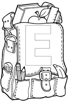 ...Το Νηπιαγωγείο μ' αρέσει πιο πολύ.: Επιστροφή στο σχολείο - Κάρτες καλωσορίσματος First Day School, Pre School, Back To School, Kindergarten, School Template, School Coloring Pages, Paper Quilling Patterns, School Clipart, Starting School