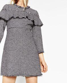 FRILLED TWEED DRESS-DRESSES-WOMAN | ZARA Denmark