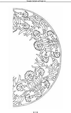 circular flower embellishment pattern