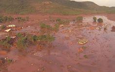 05/11 - Rompimento de uma barragem de rejeitos de mineração causou uma enxurrada de lama em Bento Rodrigues, MG