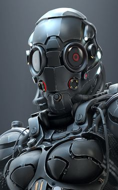 Female Mech-Suit: Blame by Roman Makarenko! Robot Design, Helmet Design, Armor Concept, Concept Art, Armadura Cosplay, Arte Cyberpunk, Futuristic Armour, Mekka, Sci Fi Armor