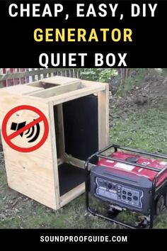 Here are some ways to make a generator quieter. If you have a loud generator the all of these soundproofing tips will work, especially a generator enclosure and even a diy generator shed. #quiet generator #generator enclosure #generator shed #generator silencer diy #generator house  #soundproofguide #soundproof guide Generator Shed, Portable Generator, Soundproof Box, Diy Home Repair, Cool Gadgets To Buy, Sound Proofing, Camping Survival, Useful Life Hacks, Alternative Energy