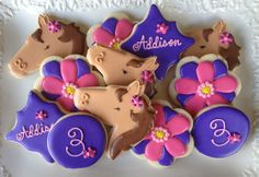 Flowers and Ponies Sugar Cookie Collection by NotBettyCookies, $36.00