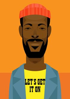Illustration by Stanley Chow of Marvin Gaye Graphic Design Illustration, Digital Illustration, Creative Illustration, Caricatures, Stanley Chow, Marvin Gaye, African American Art, Dope Art, Black Art