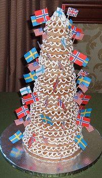 Kransekage - Swedish wedding cake