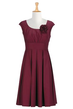 the flower is removable so we could wear it in our hair! only $48!  http://www.tbdress.com/product/Perfect-Empire-Waist-V-Neck-Capped-Knee-Length-Juliana%E2%80%99s-Bridesmaid-Dress-9647237.html#tab_one_3    http://www.tbdress.com/product/Pretty-Knee-Length-V-Neck-Renatas-Cocktail-Homecoming-Dress-9647196.html