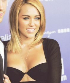 Miley Cyrus. Why couldn't she just stayed looking like this? She is hot! By far the best she has ever looked.