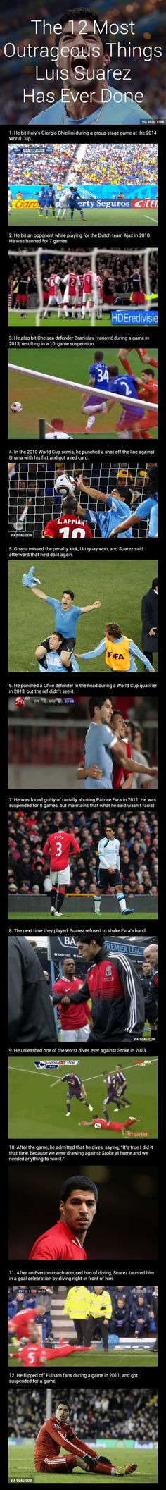 The 12 Most Outrageous Things Luis Suarez Has Ever Done