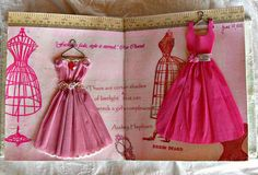 Tissue printed, crepe paper dresses