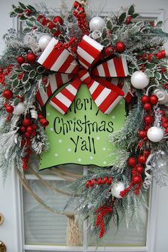 Christmas Wreath by HangingTouches on Etsy, $119.97