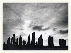 The stone circle at Calanais (Callanish), Isle of Lewis, Outer Hebrides