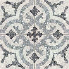 Cement Tile Shop - Encaustic Cement Tile: In Stock Cement Tile Bathroom Floor Tiles, Wall Tiles, Tile Floor, Terrazzo, Outdoor Tiles, Cement Crafts, Encaustic Tile, Concrete Tiles, Tile Design