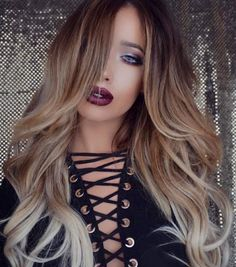 Smoldering Natural blonde ombré by Guy Tang. Balayage hotonbeauty.com