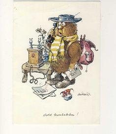 Kjell Aukrust Illustration, Vintage World Maps, Barn, Illustrations, Warehouse, Barns, Shed