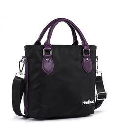 Top Handle Bag Small Nylon Handbags for Women Messenger Tote Crossbody Shoulder Bags Travel Purse - Black - C0187DLNUXI  #Bags #Handbags #Totebags #gifts #Style