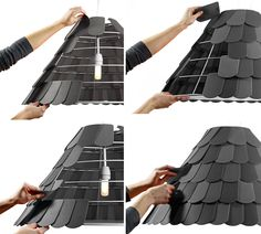 Made to look like roofing shingles...cute!