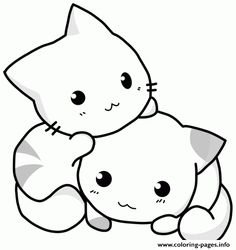 Print Cute Cat Coloring Pages