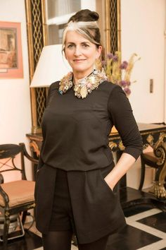 STYLIST CATHY O'CONNOR WEARING HER #JOANNEHYNES MARIE ANTOINETTE FANTASY GARDEN #CRYSTALCOLLAR!  €395  SHOP: http://www.joannehynes.com/shop/collars/marie-antoinette-made-to-order/