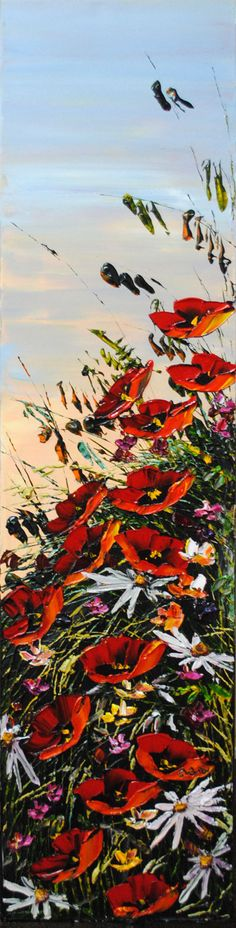 Saw a painting like this on our honeymoon and so wanted to buy it. So beautiful. Maya Eventov - Summer Breeze I