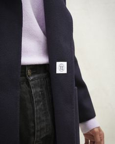 The Timo coat is a simple and masculine cut. Curated from the most exceptional blend of a navy blue double silk-wool blend, this coat is a revamped version of our best selling women's Alamo coat, as it can be worn with everything from light t-shirts to oversized hoodies. Silk Wool, Wool Blend, Suit Jacket, Women Wear, Navy Blue, Hoodies, Simple, Model, How To Wear
