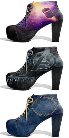Geek Shoes Doctor Who, Avengers & The Lord of the Ring