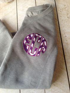 Circle appliqué monogrammed sweatshirt