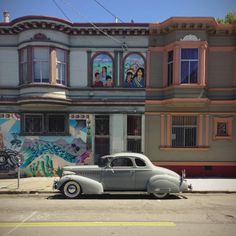 Cool old cars parked on the streets of San Francisco. via Wired Cool Old Cars, Car Parking, Vintage Cars, Backdrops, San Francisco, Homes, Street, City, Gallery