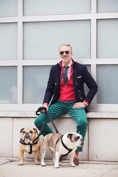 Michael Bastian (US fashion designer) has not one, but TWO bulldogs! (@Jeff Sheldon Sheldon Sheldon Ryan)