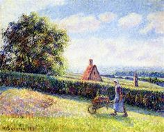 Woman Pushing a Wheelbarrow - Camille Pissarro - The Athenaeum