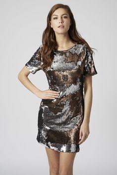 Photo 4 of Two-Tone Sequin Bodycon Dress