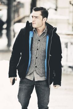 Ed Westwick  I am actually in love with this man.