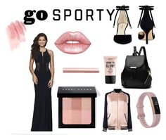 """""""Go Sporty with S7944!"""" by faviana-ny ❤ liked on Polyvore featuring Nine West, Fitbit, Yves Saint Laurent, Faviana, NYX, Lime Crime, Bobbi Brown Cosmetics and modern"""