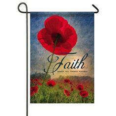 I'd love a set of seasonal garden flags - classly Christian themed.