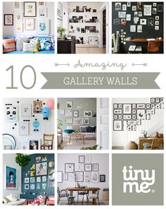 10 Amazing Gallery Walls ~ Tinyme