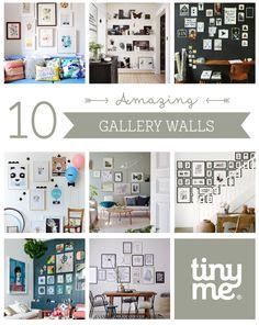 10 Amazing Gallery Walls