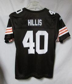 798b39446ba ... Cleveland Browns Womens Large Peyton Hillis 40 Screened Jersey Flawed  bb 4129 Reebok Peyton Hillis Cleveland Browns Replica Jersey - White ...