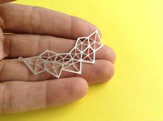 New to GoldieSupplies on Etsy: Silver Geometric Diamond Pendant 1 Pc  Laser Cut Jewelry Exclusive at Goldie Supplies (5.49 USD)