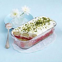 Rhabarber-Quark-Trifle Rezept   LECKER
