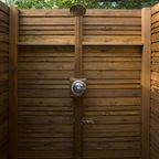 Outdoor Shower in Cedar - Traditional - Deck - houston - by House Doctor